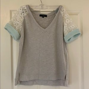 Anthropologie lace detail sweatshirt